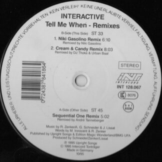 "Interactive - Tell Me When (Remixes) (12"")"