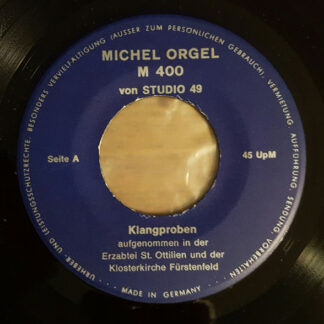 "Unknown Artist - Michel Orgel M 400 von Studio 49 (7"", EP)"