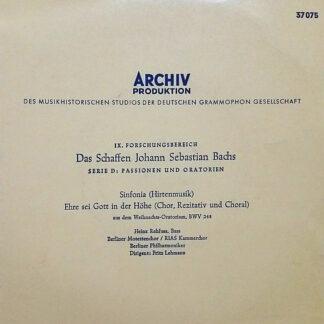 Johann Sebastian Bach - Sinfonia (Hirtenmusik) / Ehre Sei Gott In Der Höhe (Chor, Rezitativ Und Choral) (7