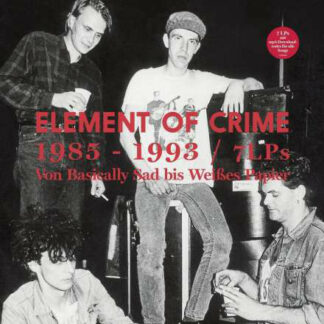 Element Of Crime - 1985 - 1993 Von Basically Sad Bis Weißes Papier (Box, Comp + LP, Album, RE, RM + LP, Album, RE, RM )