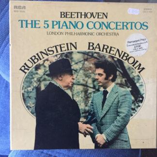 Beethoven*, Rubinstein*, Barenboim*, London Philharmonic Orchestra* - The Five Piano Concertos (Box + 5xLP, Comp)