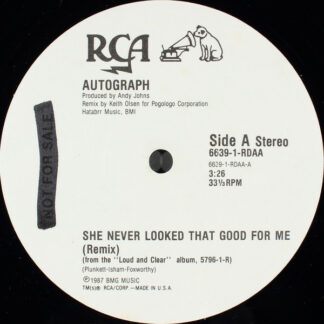 "Autograph (2) - She Never Looked That Good For Me (Remix) (12"", Single, Promo)"