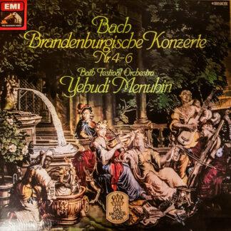 Bach* - Bath Festival Orchestra, Yehudi Menuhin - Brandenburgische Konzerte Nr. 4-6 (LP, Album, RE)