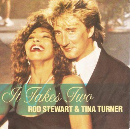 """Rod Stewart & Tina Turner - It Takes Two (7"""", Single, Lar)"""
